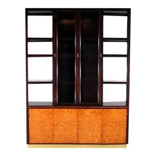 Display Cabinet with Vitrine Edward Wormley Dunbar For Sale