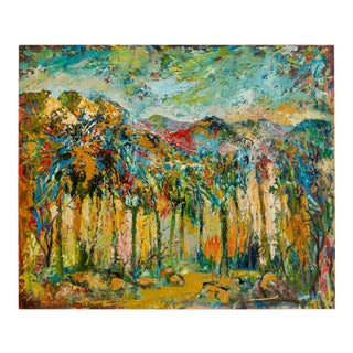 Canyons and Palms Painting For Sale