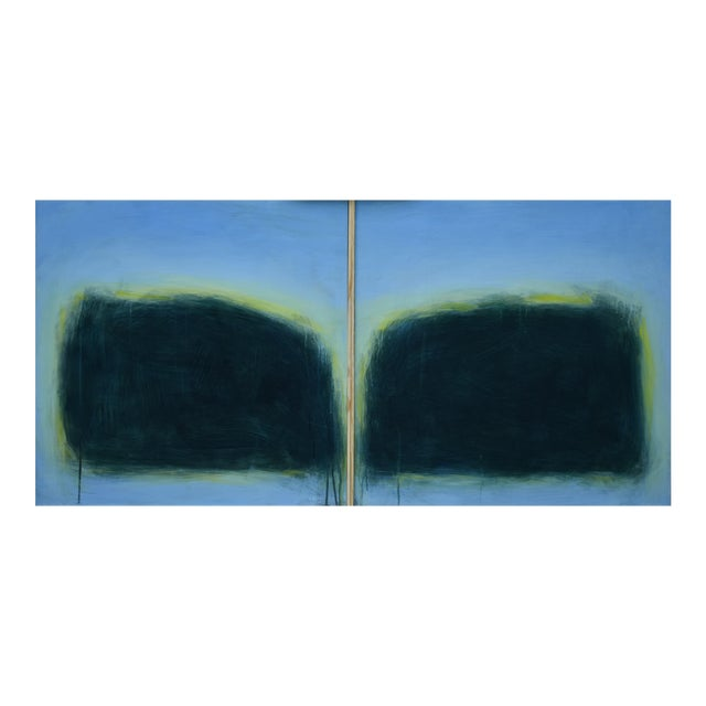 "Modern ""Touch, Summer Morning"" Abstract Diptych by Stephen Remick For Sale"