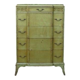 1940s Catalonia Carved Highboy Dresser For Sale