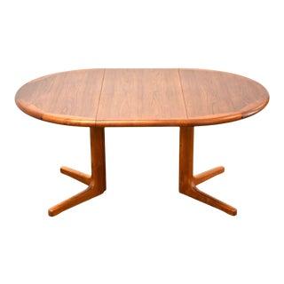 Danish Teak Extendable Dining Table For Sale