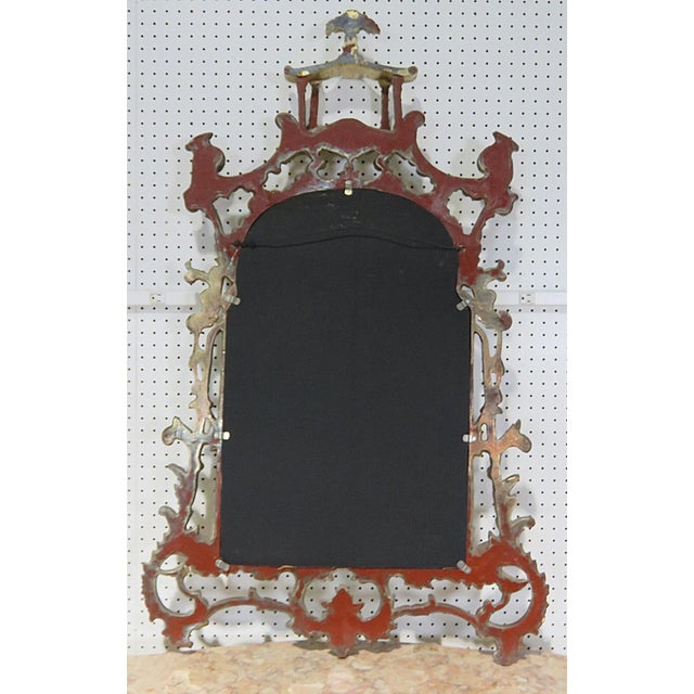 Florentine Style Marble Top Console With Mirror For Sale - Image 10 of 12