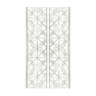 Vintage Peacock Curl Bamboo Swinging Doors / Entryway or Closet Doors - a Pair For Sale