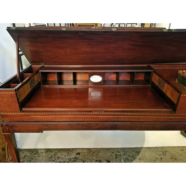 18c British Mahogany and Satinwood Bureau For Sale - Image 4 of 13