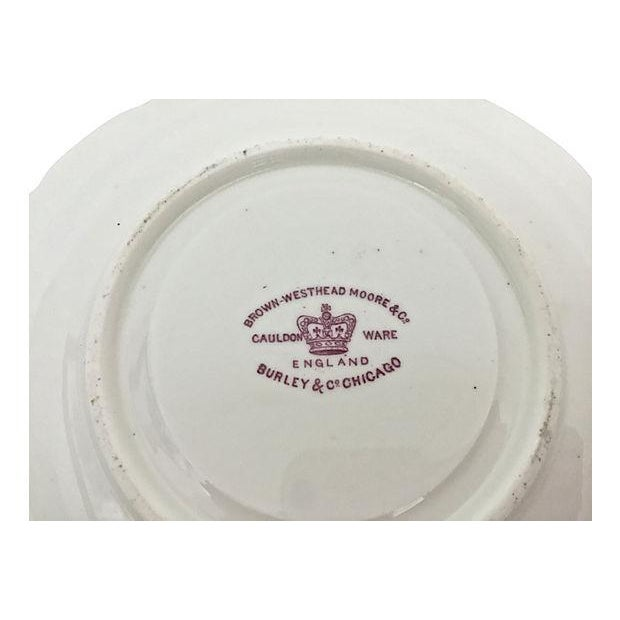English Soup Cups & Saucers - Set of 6 - Image 8 of 10