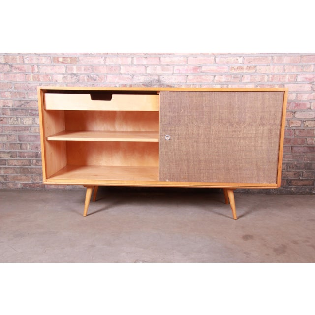 Wood Paul McCobb Planner Group Mid-Century Modern Solid Maple Sideboard Credenza, 1950s For Sale - Image 7 of 13