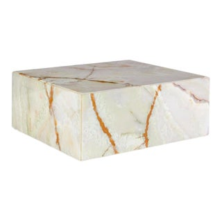 Italian Monumental Onyx Coffee Table For Sale