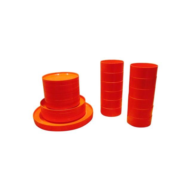 Heller Vignelli Stacking Orange Plate Bowl 30 Pcs - Image 1 of 11