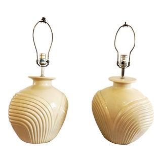 1980s Art Deco Revival Lamps - a Pair For Sale