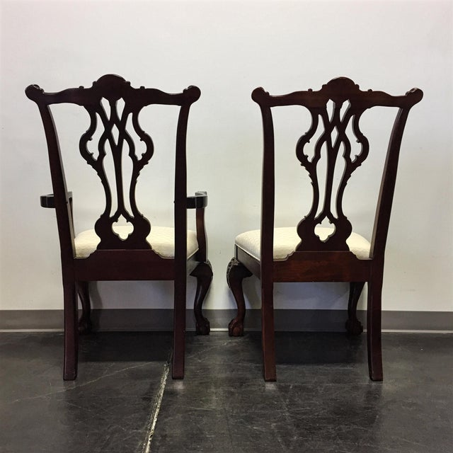 Thomasville Mahogany Collection Chippendale Dining Chairs - Set of 8 For Sale - Image 5 of 11