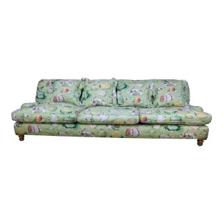 Late 20th Century English Country Garden Light Green Sofa For Sale