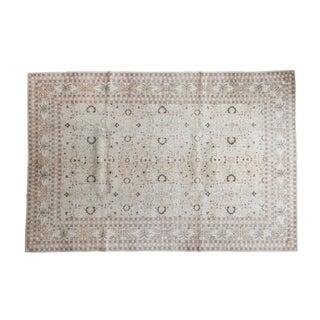 "1970s Distressed Hereke Carpet - 6'10"" x 10'3"" For Sale"