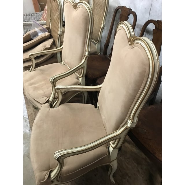 French Vintage Mid Century Louis XV Pink Chairs- A Pair For Sale - Image 3 of 5