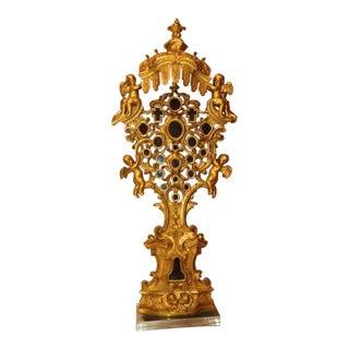 18th Century Antique Rococo Reliquary For Sale