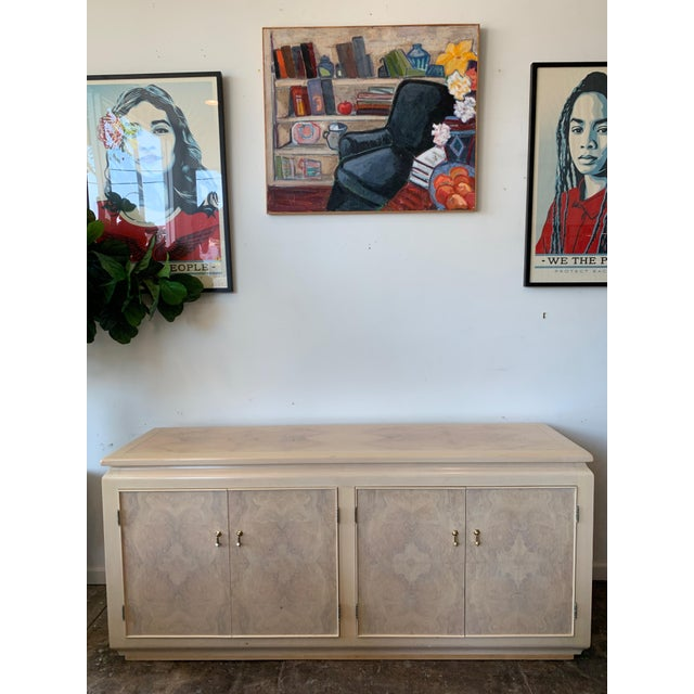 Beige Burled Wood Credenza For Sale - Image 8 of 8
