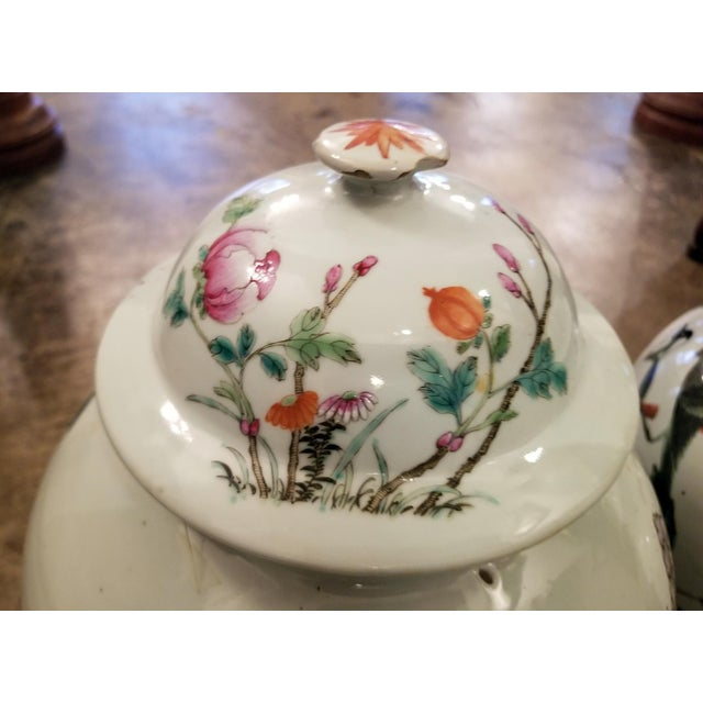 Ceramic Qing Dynasty Lidded Ginger Jars - a Pair For Sale - Image 7 of 13