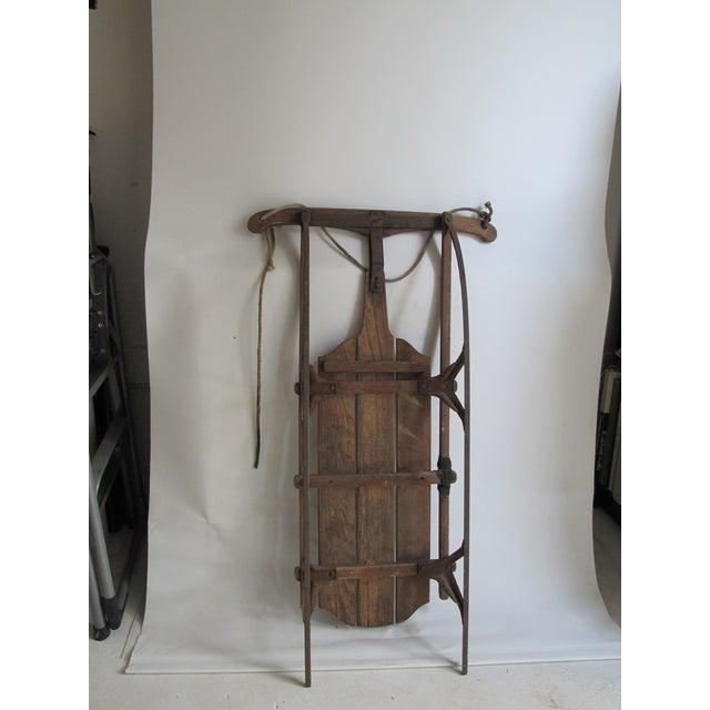 Vintage Wood and Metal Winter Sled - Image 4 of 6