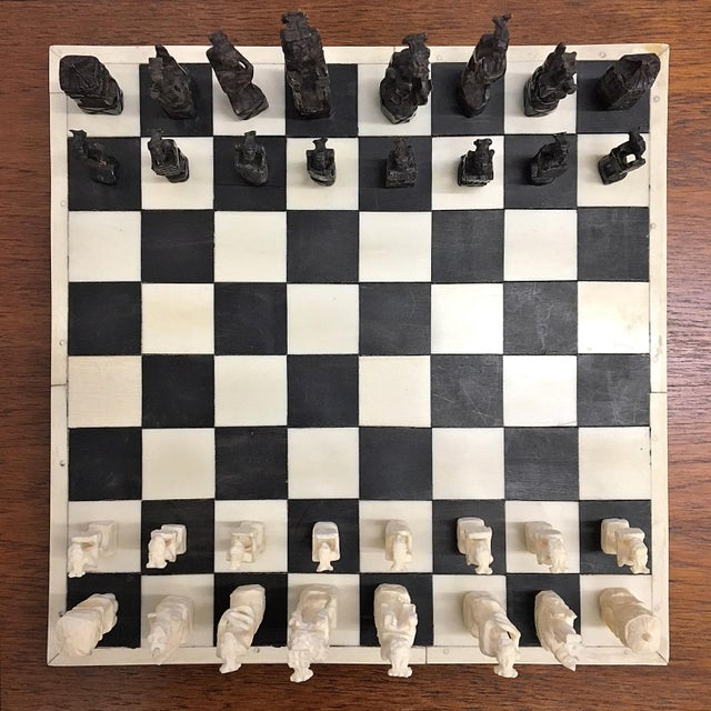 1930 Belgian Congo Ivory Chess Set For Sale - Image 10 of 10