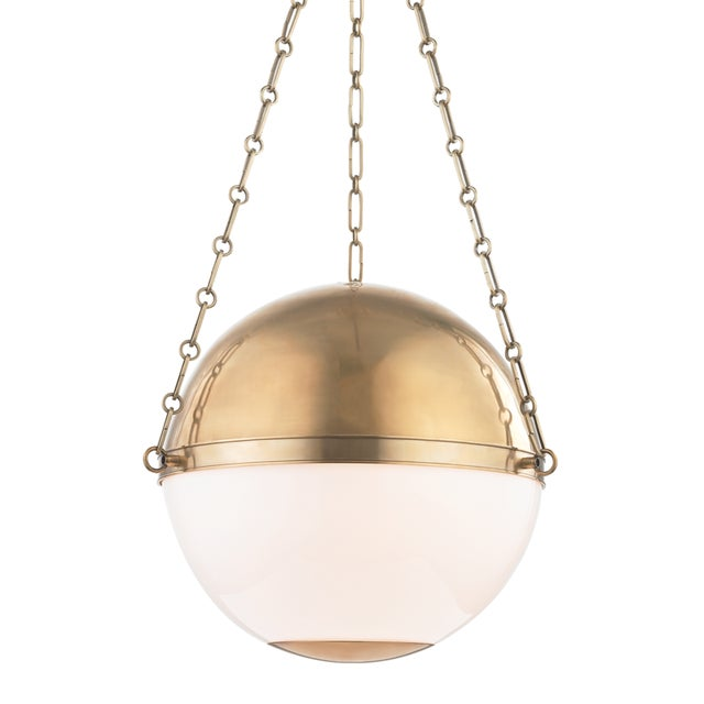 Mid-Century Modern Sphere No.2 3 Light Large Pendant - AGB For Sale - Image 3 of 3