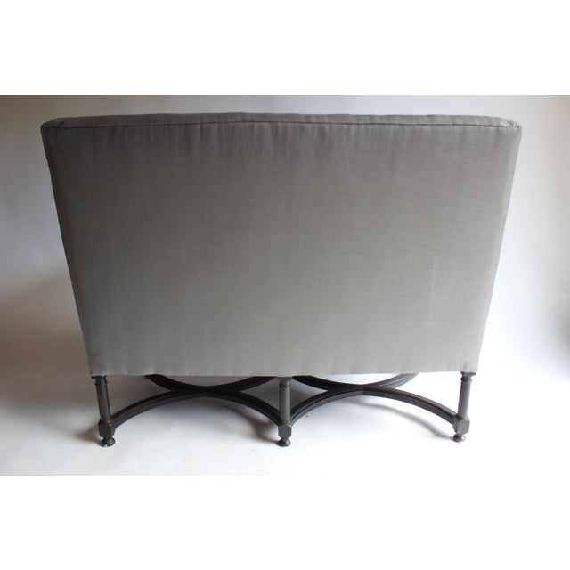 19th Century French Ebonized Settee For Sale In New York - Image 6 of 8