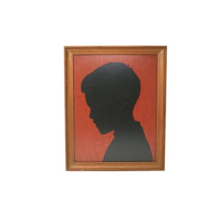 Vintage Framed Boy Silhouette For Sale