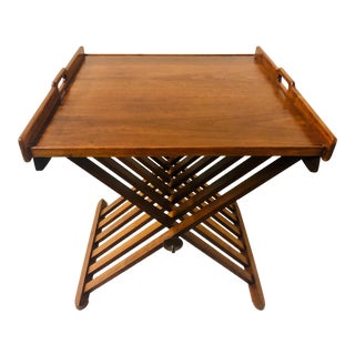 Kipp Stewart for Drexel Campaign Style Table For Sale