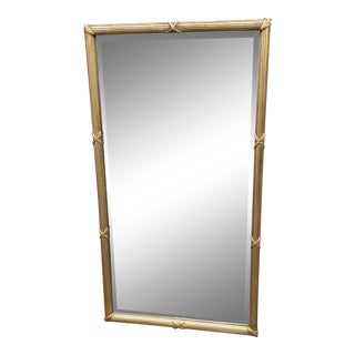 Vintage 1960s Regency Style Gold Reeded Mirror 24 X 44 For Sale