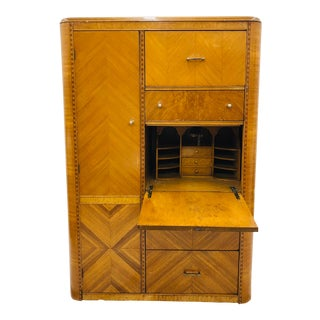 Antique Chifferobe Dresser & Desk Armoire Hutch For Sale