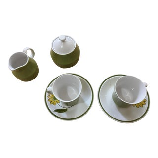 Vintage Mikasa Tea Set - Set of 6 For Sale