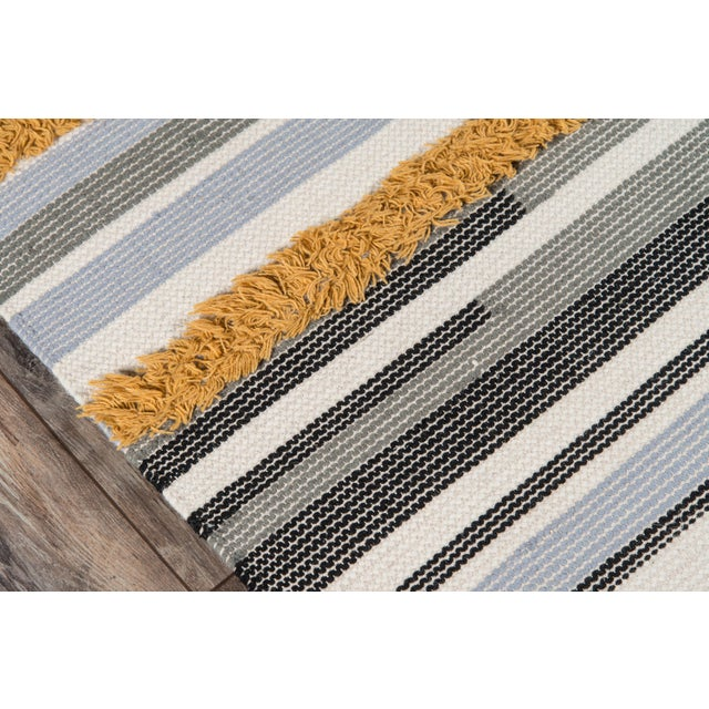 Novogratz by Momeni Indio Feliz in Mustard Rug - 2'X8' Runner For Sale - Image 4 of 8
