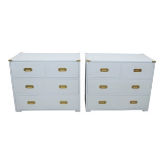 Vintage Campaign Lacquered Side Tables For Sale