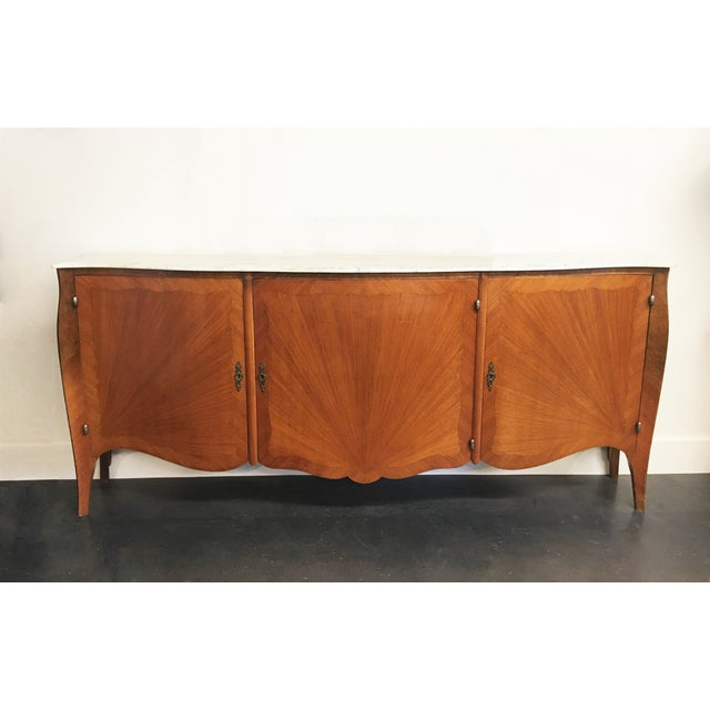 French Transitional Louis XV / XVI Buffet For Sale - Image 9 of 9