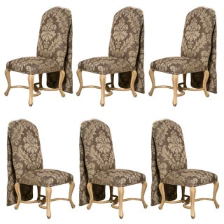 Kreis Drape-Back Dining Chairs - Set of 6 For Sale