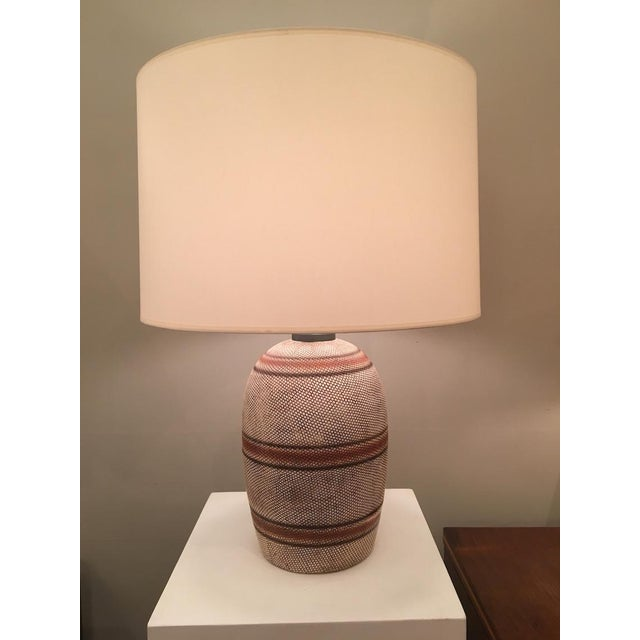 Georges Jouve French Ceramic Mid-Century Table Lamp in the style of Georges Jouve For Sale - Image 4 of 4