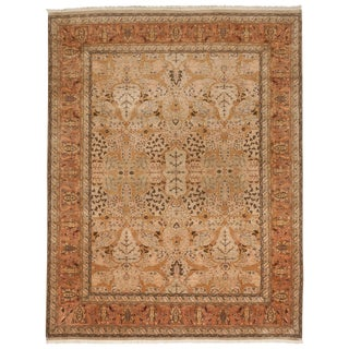 "Hand Knotted Indian Rug - 8'2"" x 10'5"""