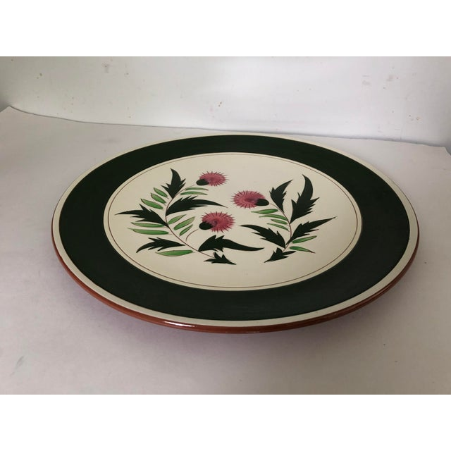 "Vintage midcentury 14.5"" D serving platter, makers mark "" Stangl Pottery Thistle "" Excellent condition."