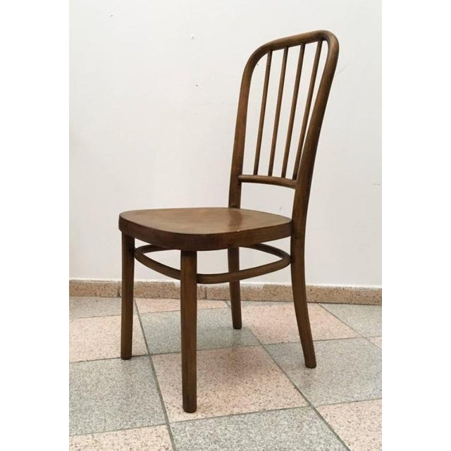 - Beech bentwood with plywood seats - Desiged in the 1930s by Josef Frank for Thonet - Original condition