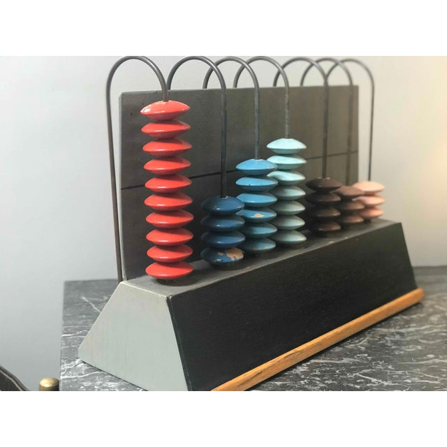 Mid-Century Multicolor Abacus From France For Sale - Image 4 of 5