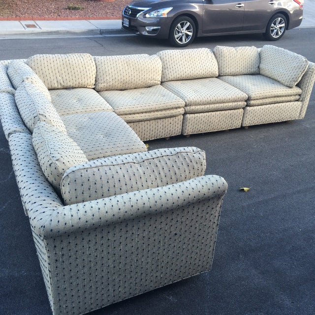 Sherrill Furniture Contemporary Six-Part Sectional - Image 8 of 10
