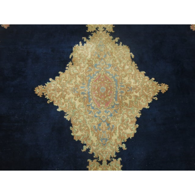 Vintage Persian Kerman Rug - 10'4'' x 13'2'' - Image 9 of 10
