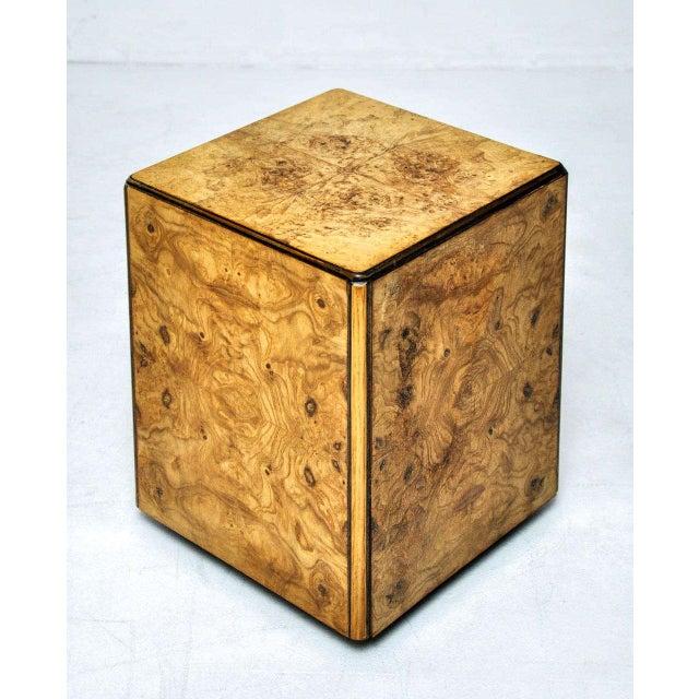 Fine Burl Wood Rolling Side Table Decaso