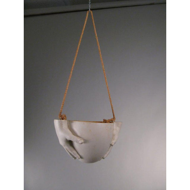"Richard Etts 1970s Ceramic ""Hands"" Hanging Bowl by Richard Etts For Sale - Image 4 of 8"