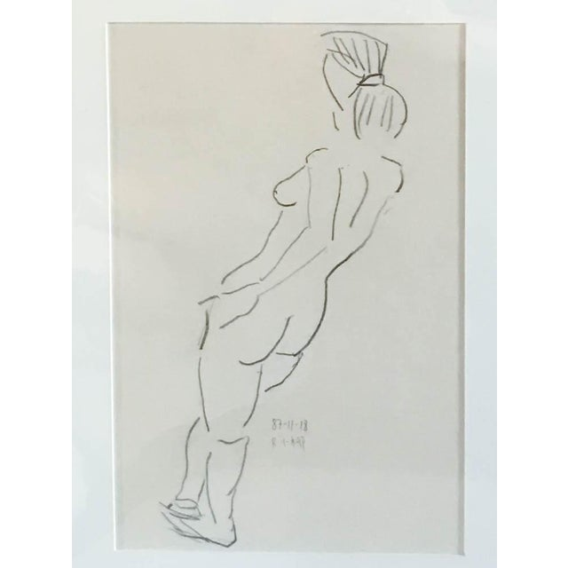 Classic nudes adorn many different kinds of spaces. This one is lovely in it's simplicity and almost figurative way. Lines...