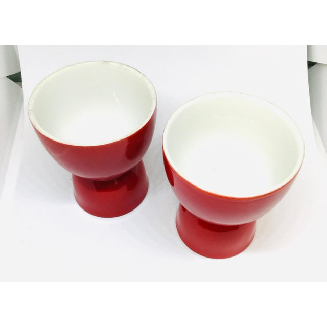 Beautiful Bright Red Porcelain Wine Cups. Use these anywhere you desire a pop of color. On a dressing table for jewelry....