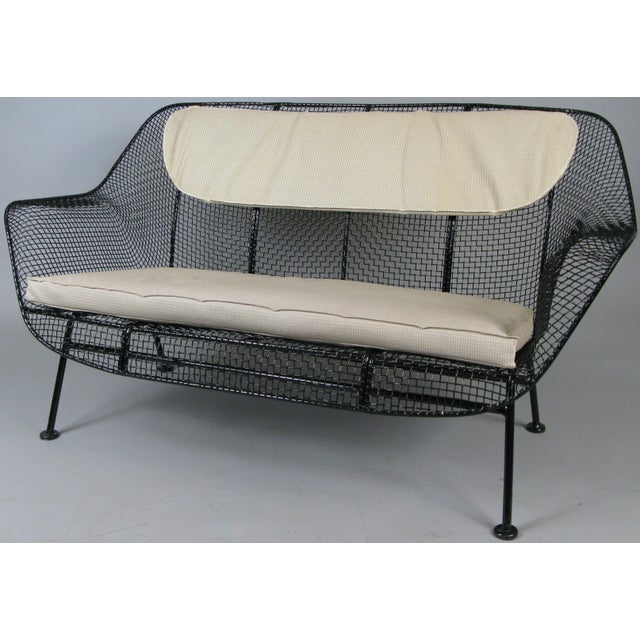 Metal Classic 1950s 'Sculptura' Settee by Russell Woodard For Sale - Image 7 of 7