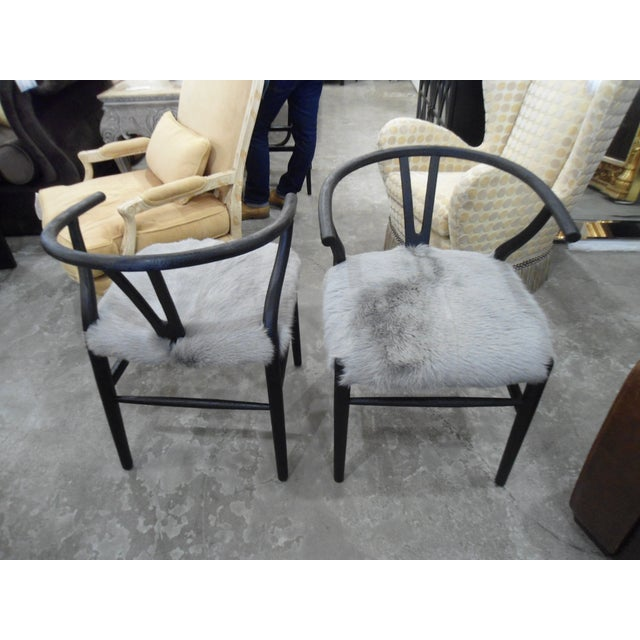 HD Buttercup Nordic Style Chairs - Set of 2 - Image 2 of 4