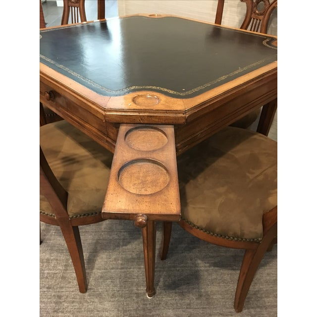 Traditional Antique Game Table and Chairs - Set of 5 For Sale - Image 3 of 8