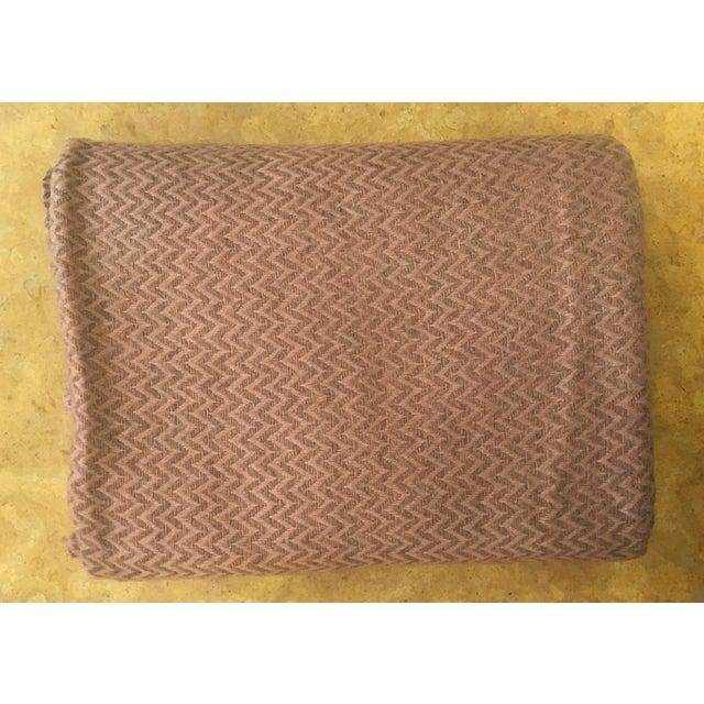 Large Pink Cashmere Blanket - Image 11 of 11