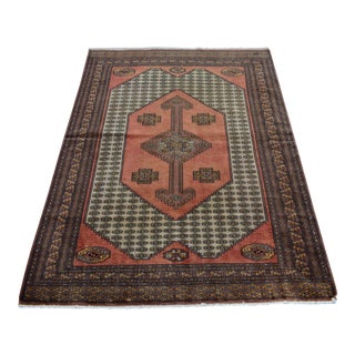 Contemporary Nomad's Hand-Knotted Tribal Pakistani Rug - 4′2″ × 4′11″ For Sale