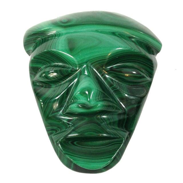 Mid-Century Malachite Head Sculpture - Image 1 of 6